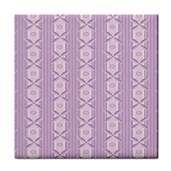 Flower Star Purple Tile Coasters