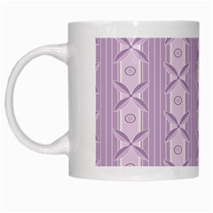 Flower Star Purple White Mugs