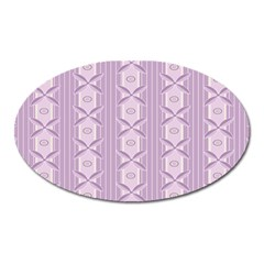 Flower Star Purple Oval Magnet