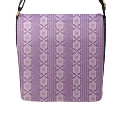Flower Star Purple Flap Messenger Bag (l)  by Alisyart