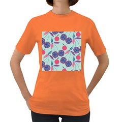 Passion Fruit Pink Purple Cerry Blue Leaf Women s Dark T Shirt by Alisyart