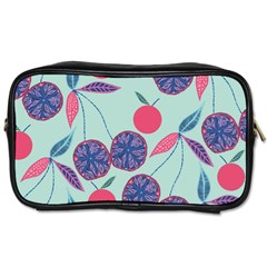 Passion Fruit Pink Purple Cerry Blue Leaf Toiletries Bags 2 Side by Alisyart