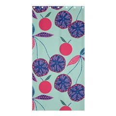 Passion Fruit Pink Purple Cerry Blue Leaf Shower Curtain 36  X 72  (stall)  by Alisyart