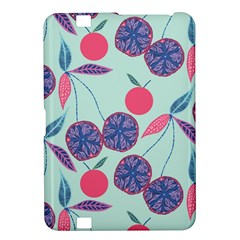 Passion Fruit Pink Purple Cerry Blue Leaf Kindle Fire Hd 8 9  by Alisyart