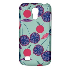Passion Fruit Pink Purple Cerry Blue Leaf Galaxy S4 Mini by Alisyart