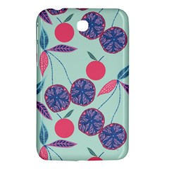 Passion Fruit Pink Purple Cerry Blue Leaf Samsung Galaxy Tab 3 (7 ) P3200 Hardshell Case  by Alisyart
