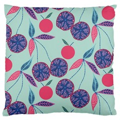 Passion Fruit Pink Purple Cerry Blue Leaf Standard Flano Cushion Case (two Sides) by Alisyart