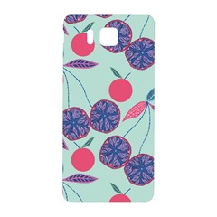 Passion Fruit Pink Purple Cerry Blue Leaf Samsung Galaxy Alpha Hardshell Back Case