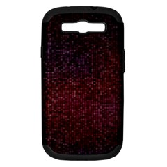 3d Tiny Dots Pattern Texture Samsung Galaxy S Iii Hardshell Case (pc+silicone) by Amaryn4rt
