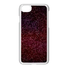 3d Tiny Dots Pattern Texture Apple Iphone 7 Seamless Case (white) by Amaryn4rt