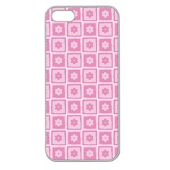 Plaid Floral Flower Pink Apple Seamless Iphone 5 Case (clear) by Alisyart
