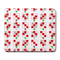Permutations Dice Plaid Red Green Large Mousepads by Alisyart