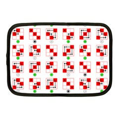 Permutations Dice Plaid Red Green Netbook Case (medium)  by Alisyart