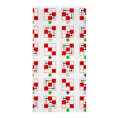 Permutations Dice Plaid Red Green Shower Curtain 36  X 72  (stall)  by Alisyart