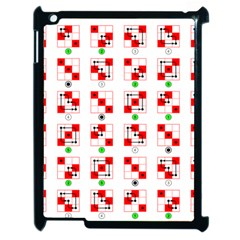 Permutations Dice Plaid Red Green Apple Ipad 2 Case (black) by Alisyart