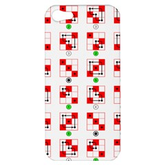 Permutations Dice Plaid Red Green Apple Iphone 5 Hardshell Case by Alisyart
