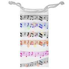 Notes Tone Music Rainbow Color Black Orange Pink Grey Jewelry Bag by Alisyart