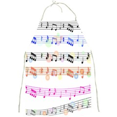 Notes Tone Music Rainbow Color Black Orange Pink Grey Full Print Aprons by Alisyart
