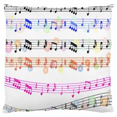 Notes Tone Music Rainbow Color Black Orange Pink Grey Large Cushion Case (one Side)