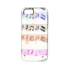Notes Tone Music Rainbow Color Black Orange Pink Grey Apple Iphone 5 Classic Hardshell Case (pc+silicone)