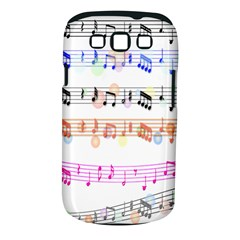 Notes Tone Music Rainbow Color Black Orange Pink Grey Samsung Galaxy S Iii Classic Hardshell Case (pc+silicone)