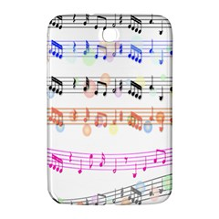 Notes Tone Music Rainbow Color Black Orange Pink Grey Samsung Galaxy Note 8 0 N5100 Hardshell Case