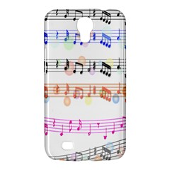 Notes Tone Music Rainbow Color Black Orange Pink Grey Samsung Galaxy Mega 6 3  I9200 Hardshell Case