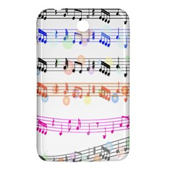 Notes Tone Music Rainbow Color Black Orange Pink Grey Samsung Galaxy Tab 3 (7 ) P3200 Hardshell Case