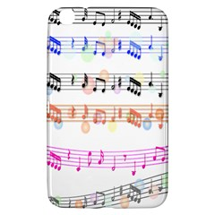 Notes Tone Music Rainbow Color Black Orange Pink Grey Samsung Galaxy Tab 3 (8 ) T3100 Hardshell Case