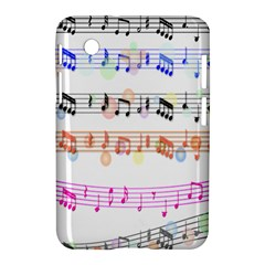 Notes Tone Music Rainbow Color Black Orange Pink Grey Samsung Galaxy Tab 2 (7 ) P3100 Hardshell Case