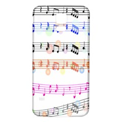 Notes Tone Music Rainbow Color Black Orange Pink Grey Samsung Galaxy S5 Back Case (white)