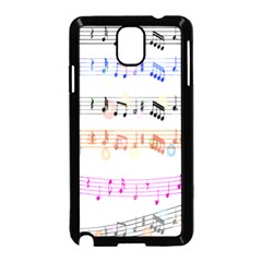 Notes Tone Music Rainbow Color Black Orange Pink Grey Samsung Galaxy Note 3 Neo Hardshell Case (black)
