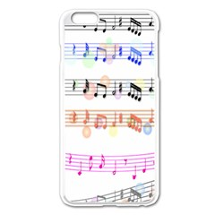 Notes Tone Music Rainbow Color Black Orange Pink Grey Apple Iphone 6 Plus/6s Plus Enamel White Case by Alisyart