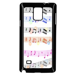 Notes Tone Music Rainbow Color Black Orange Pink Grey Samsung Galaxy Note 4 Case (black)
