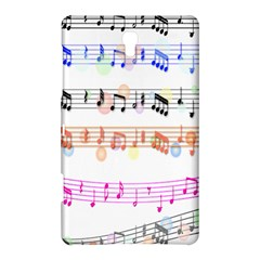 Notes Tone Music Rainbow Color Black Orange Pink Grey Samsung Galaxy Tab S (8 4 ) Hardshell Case