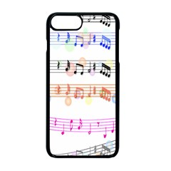 Notes Tone Music Rainbow Color Black Orange Pink Grey Apple Iphone 7 Plus Seamless Case (black)