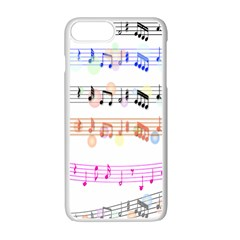 Notes Tone Music Rainbow Color Black Orange Pink Grey Apple Iphone 7 Plus White Seamless Case