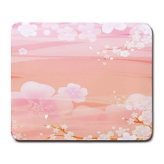 Season Flower Floral Pink Large Mousepads by Alisyart