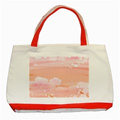 Season Flower Floral Pink Classic Tote Bag (red) by Alisyart