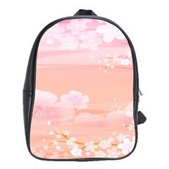 Season Flower Floral Pink School Bags(large)  by Alisyart