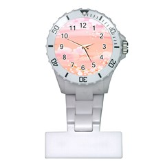 Season Flower Floral Pink Plastic Nurses Watch by Alisyart