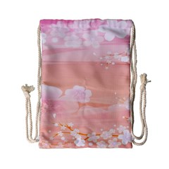 Season Flower Floral Pink Drawstring Bag (small) by Alisyart