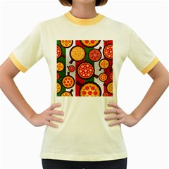 Pizza Italia Beef Flag Women s Fitted Ringer T Shirts by Alisyart