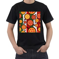 Pizza Italia Beef Flag Men s T Shirt (black) (two Sided) by Alisyart