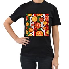 Pizza Italia Beef Flag Women s T Shirt (black) (two Sided) by Alisyart