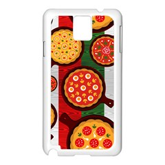 Pizza Italia Beef Flag Samsung Galaxy Note 3 N9005 Case (white) by Alisyart