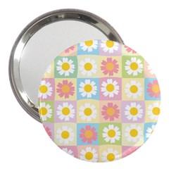 Season Flower Sunflower Blue Yellow Purple Pink 3  Handbag Mirrors by Alisyart