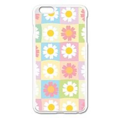 Season Flower Sunflower Blue Yellow Purple Pink Apple Iphone 6 Plus/6s Plus Enamel White Case by Alisyart