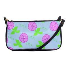 Spring Flower Tulip Floral Leaf Green Pink Shoulder Clutch Bags by Alisyart