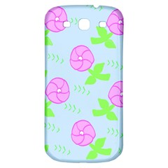 Spring Flower Tulip Floral Leaf Green Pink Samsung Galaxy S3 S Iii Classic Hardshell Back Case